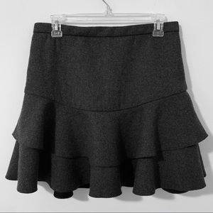 J. Crew layered skirt in bonded wool,size 2, gray